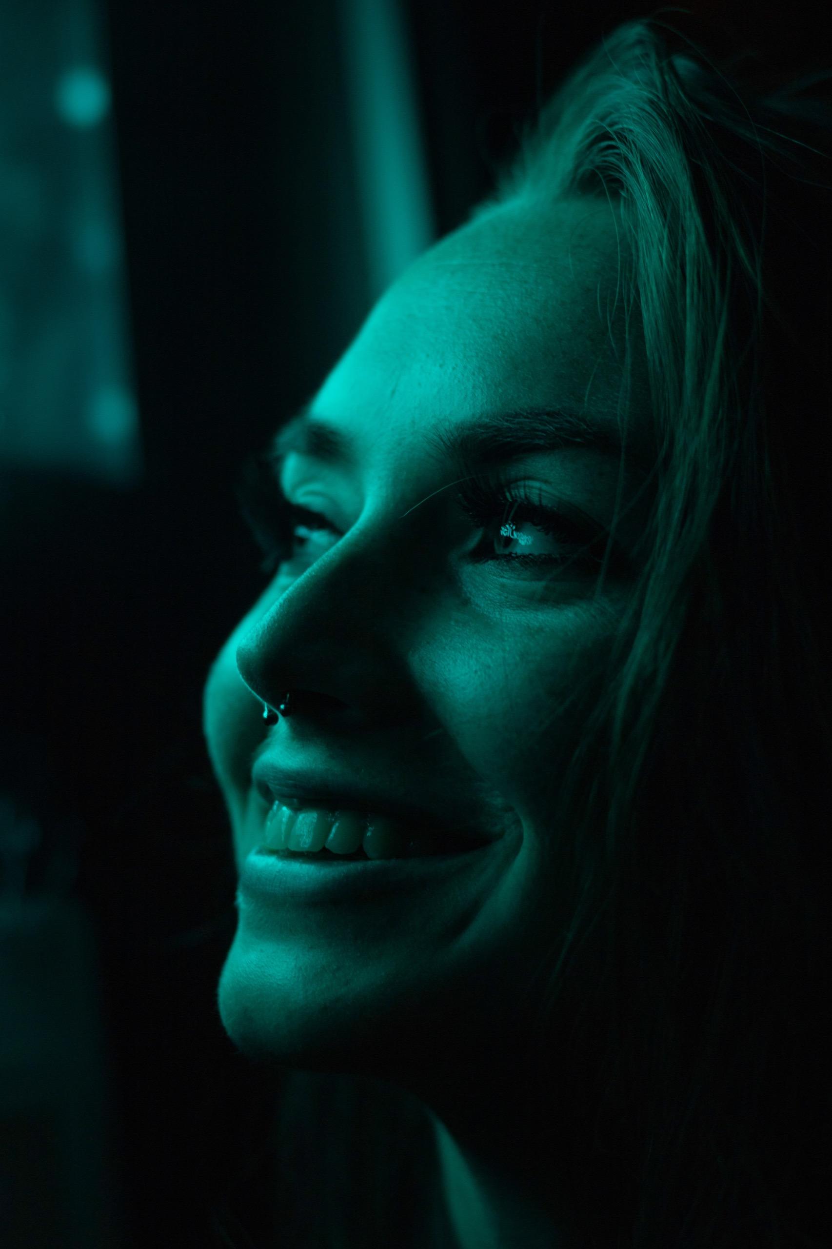 beautiful woman smiling oral health